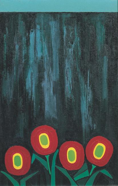 """""""Fiori rossi sul muro nero"""""""