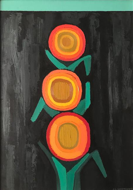 """""""Fiori arancio sul muro nero"""""""