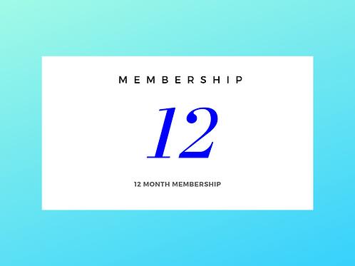 12 Month Membership Renewal
