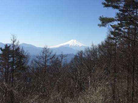 3月月例山行                                                          甲州扇山(山梨100名山 1137.8m)