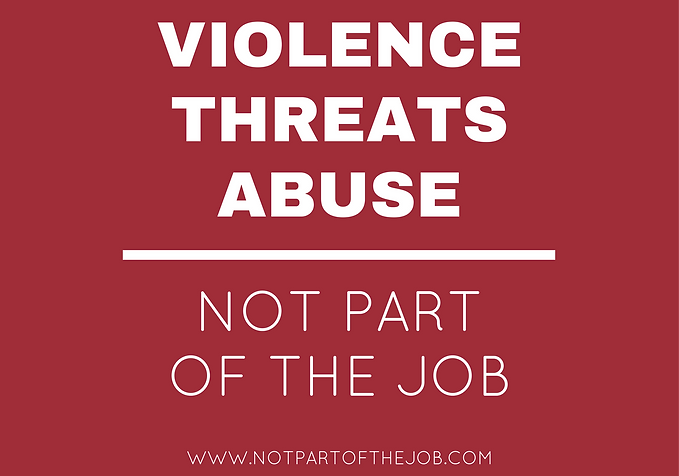 Not Part of the Job logo, Violence Threats and Abuse, www.notpartofthejob.com
