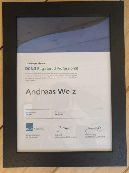 DGNB Registered Professional