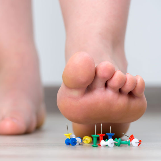 Suffering from foot pain