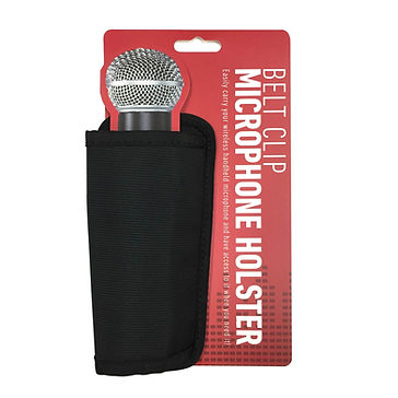 Wireless Microphone Holster with Belt Cl