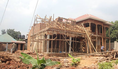 New home during construction.