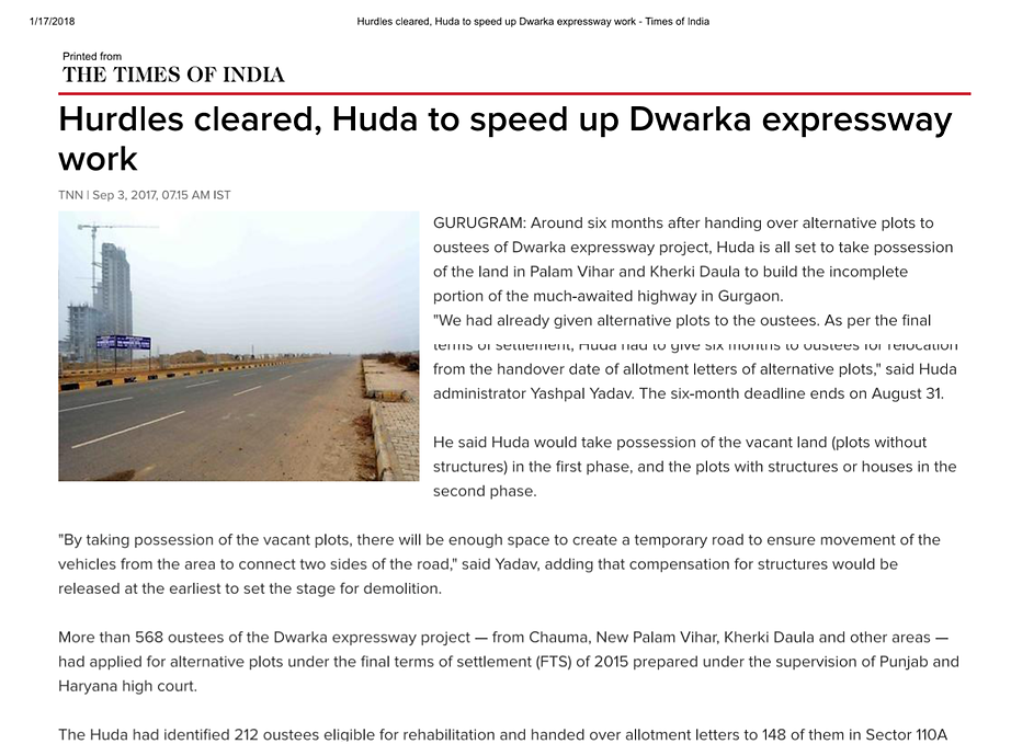 Hurdles cleared, Huda to speed up Dearka expressway work