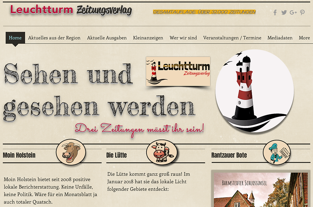 Website, homepage, Web, Leuchtturm