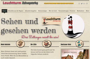 Website, homepage, Web, Leuchtturm