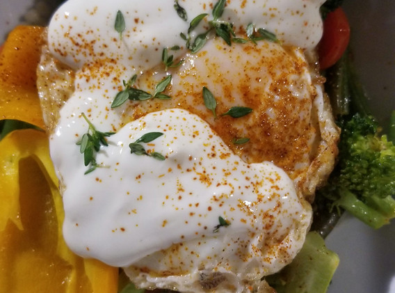 Roasted Vegetables with Fried Egg