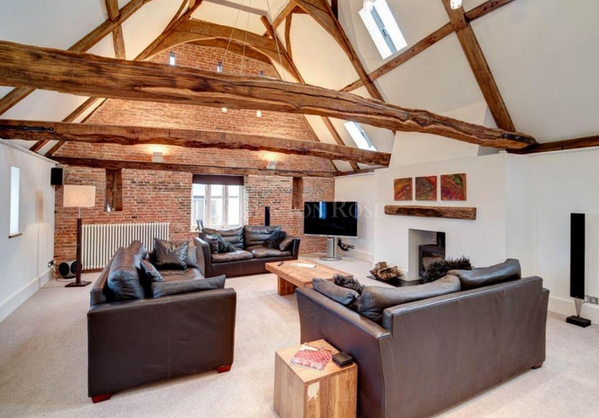 Oak beams, exposed brick