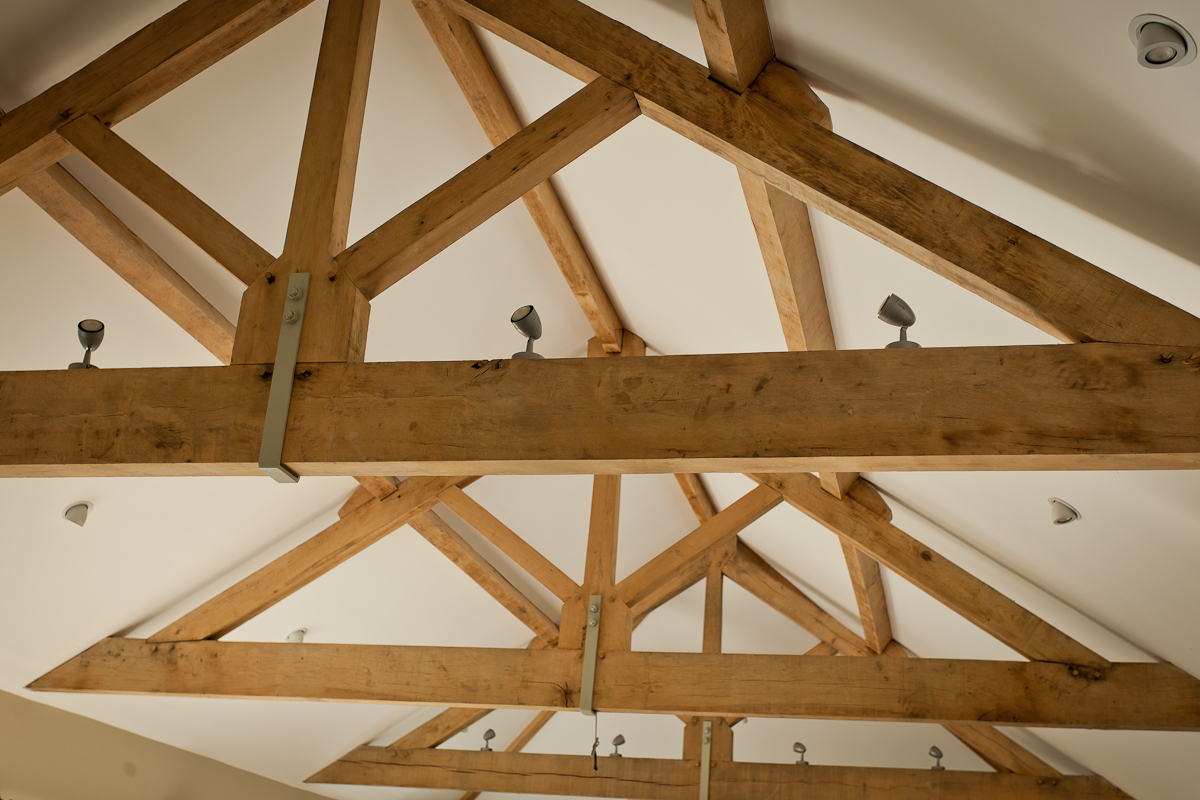 Exposed oak trusses
