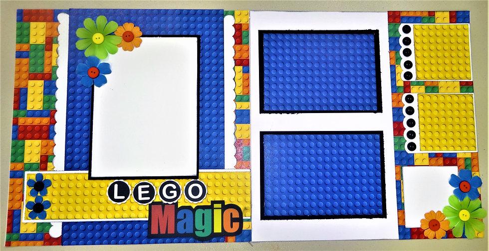 Brick Magic Page Kit w/ Precut Title