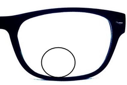 Round bifocal lenses