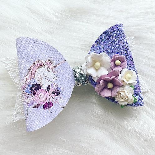 Unicorn lilac bow