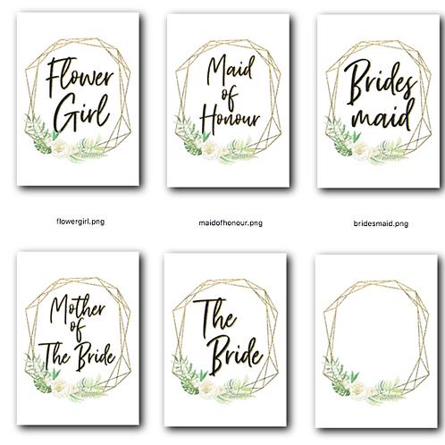 Wedding Alphabet Bundle Templates