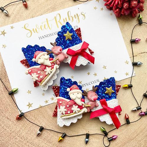 Medium Santa's sleigh bow