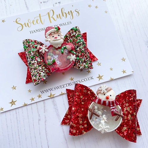 Christmas shaker bow