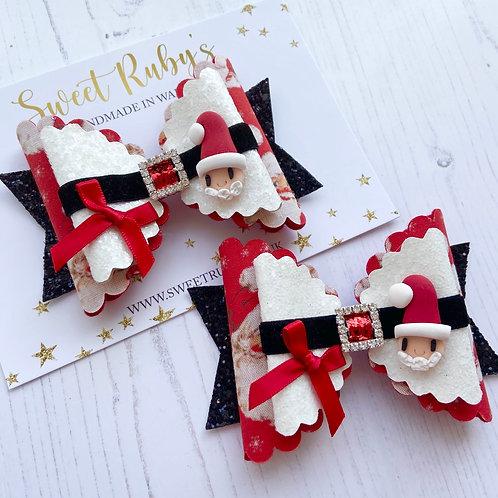 Large santa bow