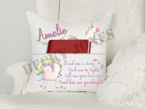 *TEMPLATE* Unicorn Book Cushion