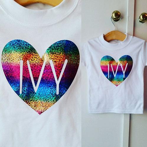 Personalised Rainbow Vest/T-shirt