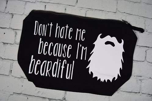 Don't hate me because I'm beardiful shaving bag.
