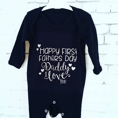 First Father's Day Babygrow
