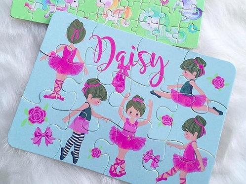 Ballerina personalised jigsaw