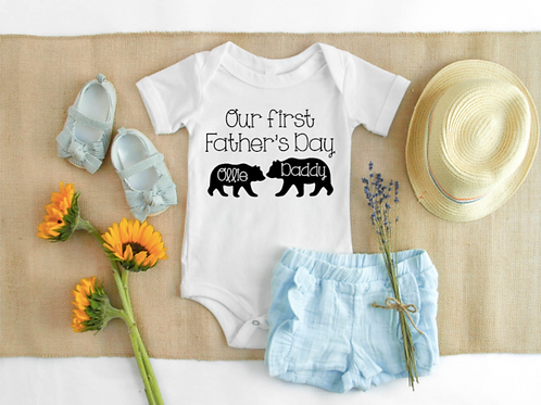 Father's Day bear vest/tee