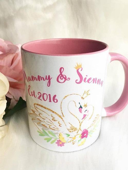 Mummy and Me swan mug