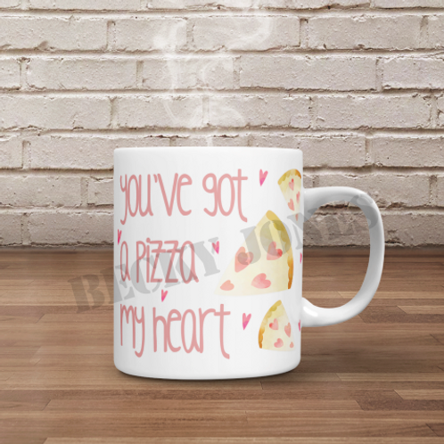 *TEMPLATE* Pizza my heart Mug