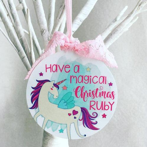 Unicorn Christmas Decoration