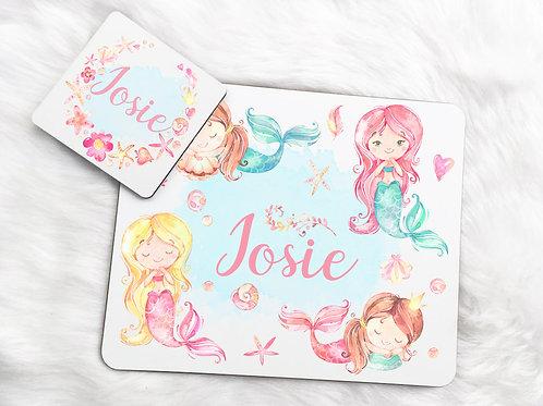 Mermaid Placemat & Coaster Set