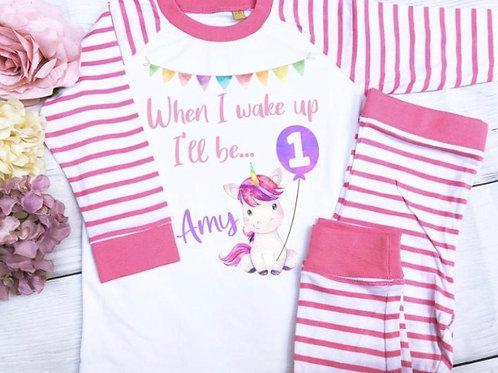 When I wake up unicorn pyjamas
