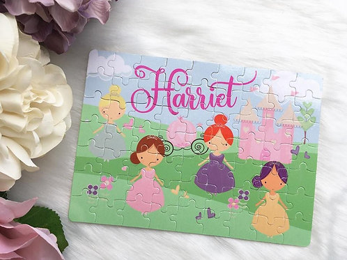 Princess personalised jigsaw