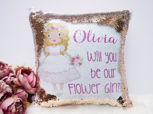 Flower Girl Magic Cushion Cover