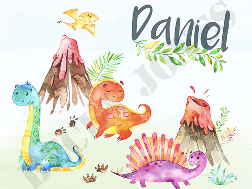 *TEMPLATE* Dinosaurs Placemat & Coaster