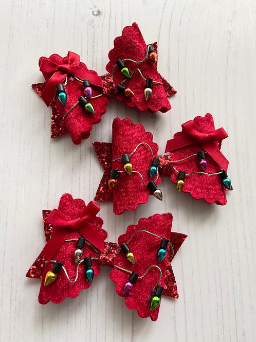 Christmas lights bow