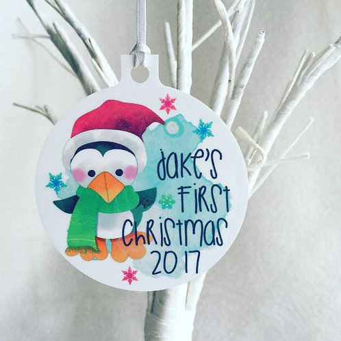 Penguin Christmas Decoration