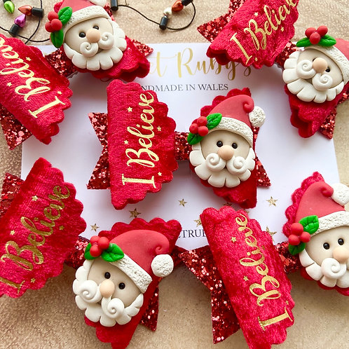 Santa I believe bow