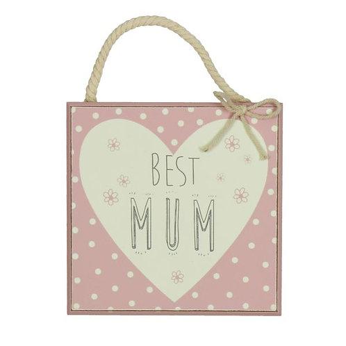 Best Mum Plaque