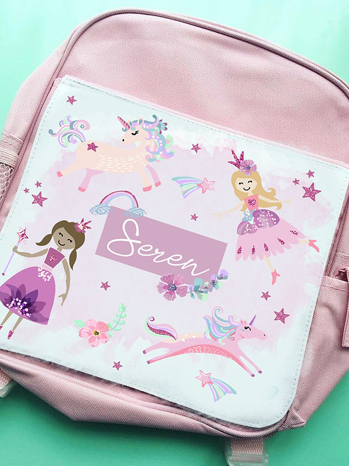 Glitter unicorns kids backpack
