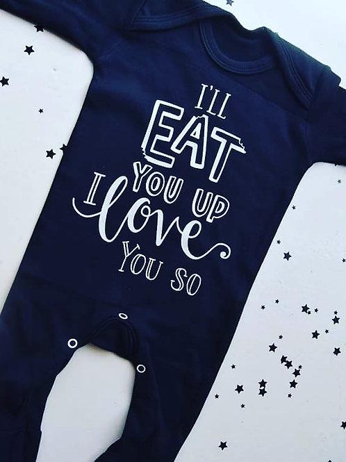 'I'll eat you up I love you so' babygrow