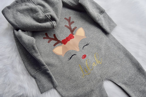 Reindeer Personalised Onesie