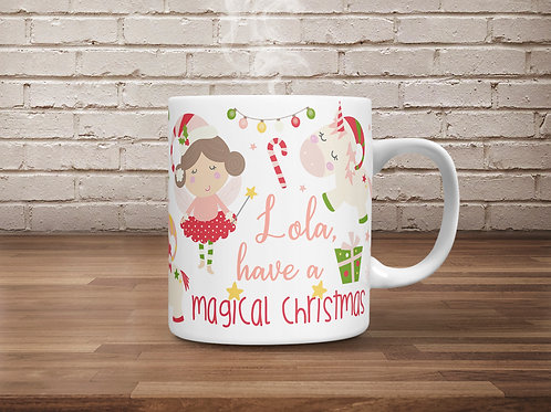 *TEMPLATE* Christmas Fairies & Unicorns Mug