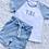 Thumbnail: Initials Ribbed Shorts and Tshirt Set