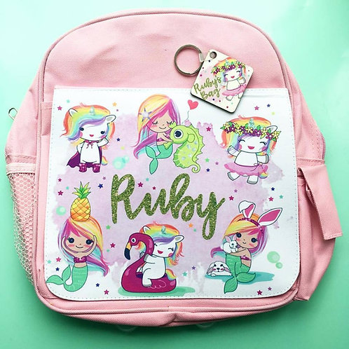 Mermaidicorns kids backpack