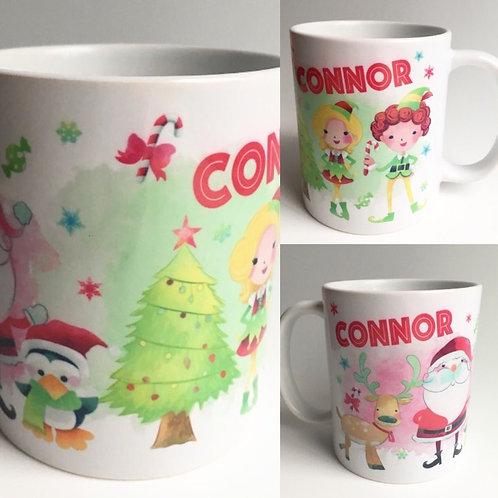 Christmas personalised mug