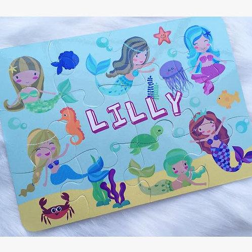 Mermaid personalised jigsaw
