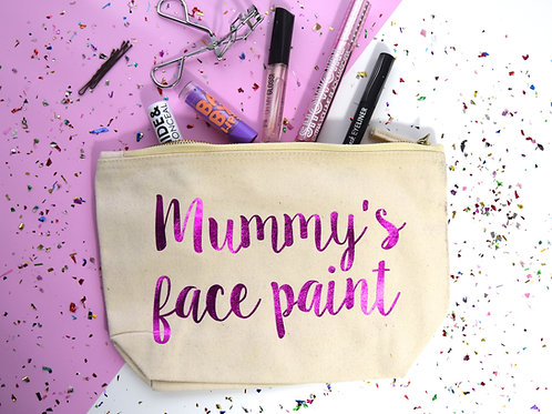 """""""Mummy's Face Paint"""" Makeup Bag."""