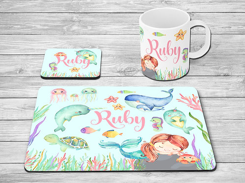 Mermaid & Narwhal Table Set